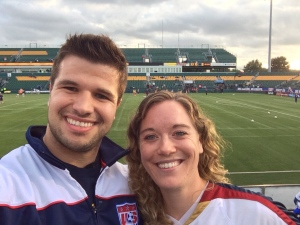 Patrick and me at Sahlen Stadium for USWNT v Mexico.