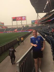At Winnipeg Stadium on June 9, 2015, just prior to kickoff of the 2015 Women's World Cup group D stage.